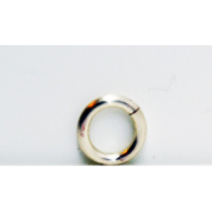 5mm Jump rings silver plated on brass X 100 top quality